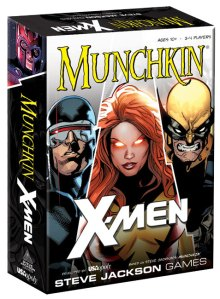 X-Men Munchkin box showing Cyclops, Wolverine, and Jean Grey.