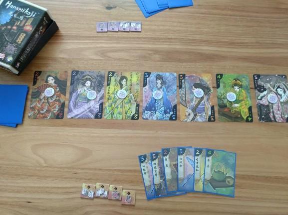 r2r-board-game-review-hanamikoji-setup