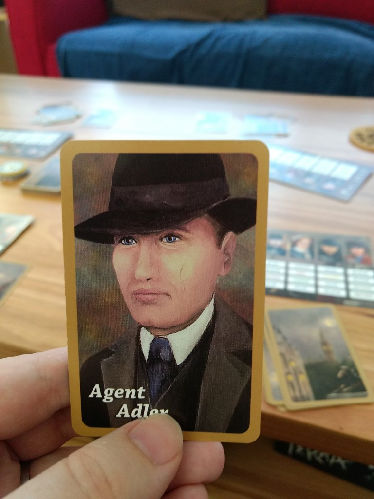 The Agent Adler card.