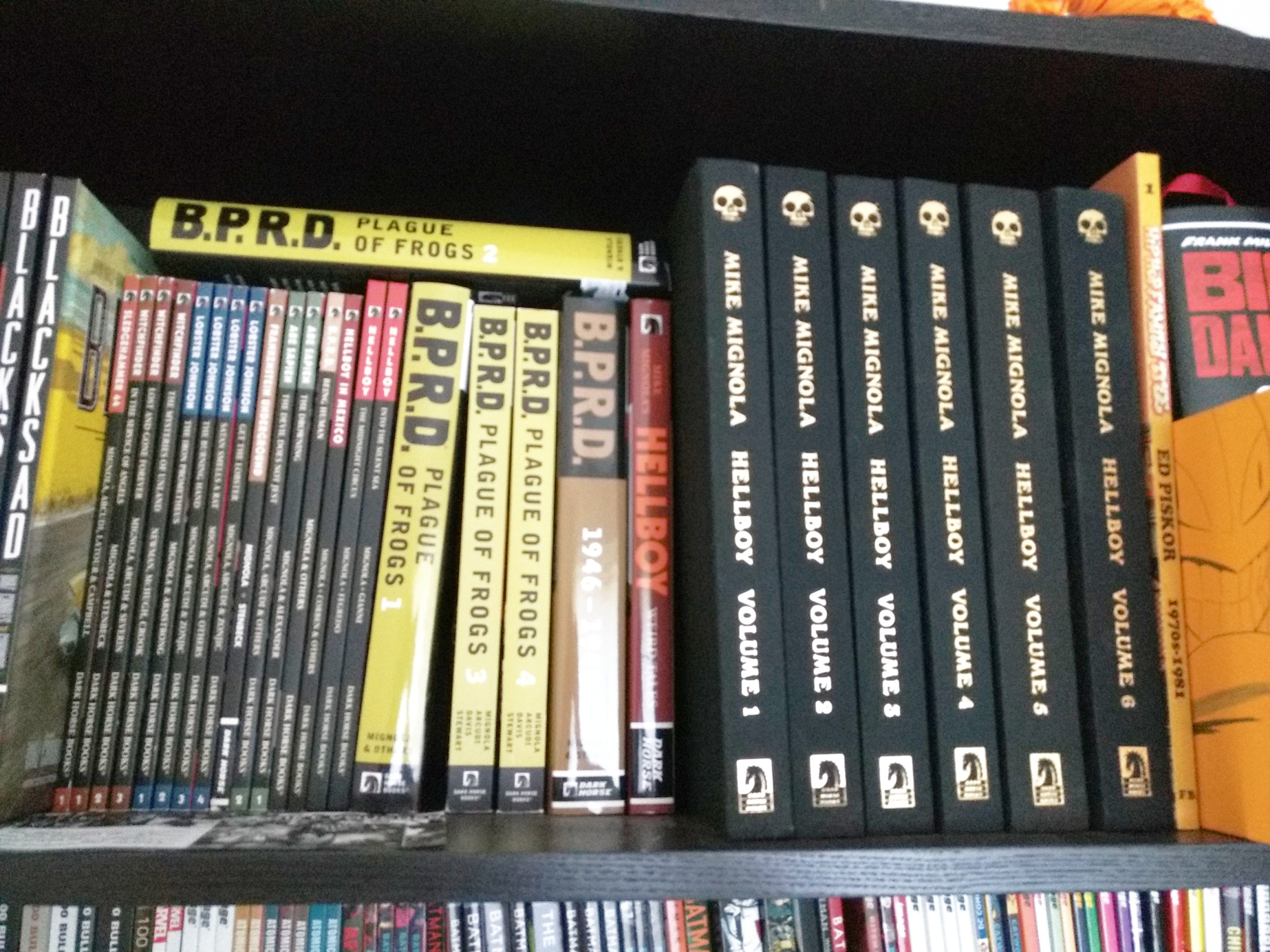 Hellboy comic book collection