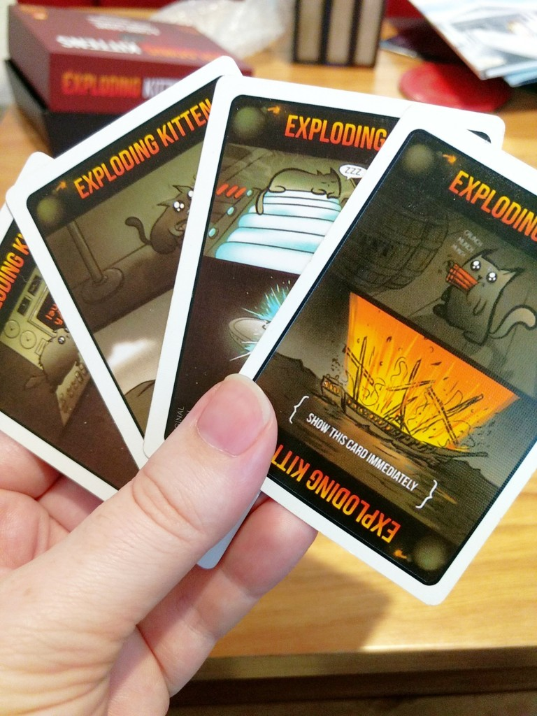 All of the exploding cat cards for Exploding Kittens.