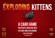 Roll-to-review-board-game-exploding-kittens-box-art