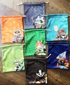 Micro fiber bags for root, each has a faction picture and matching colour and pattern