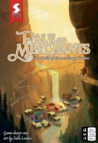 Dale of Merchants box cover - features a hiker overlooking a small town by a waterfall