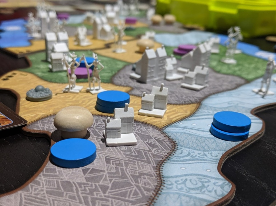 An in focus perspective shot of the colonists, and our attempt of getting rid of them.