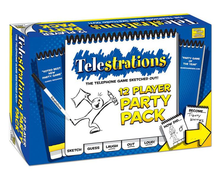 Telestrations 12 Player Party Pack box cover.