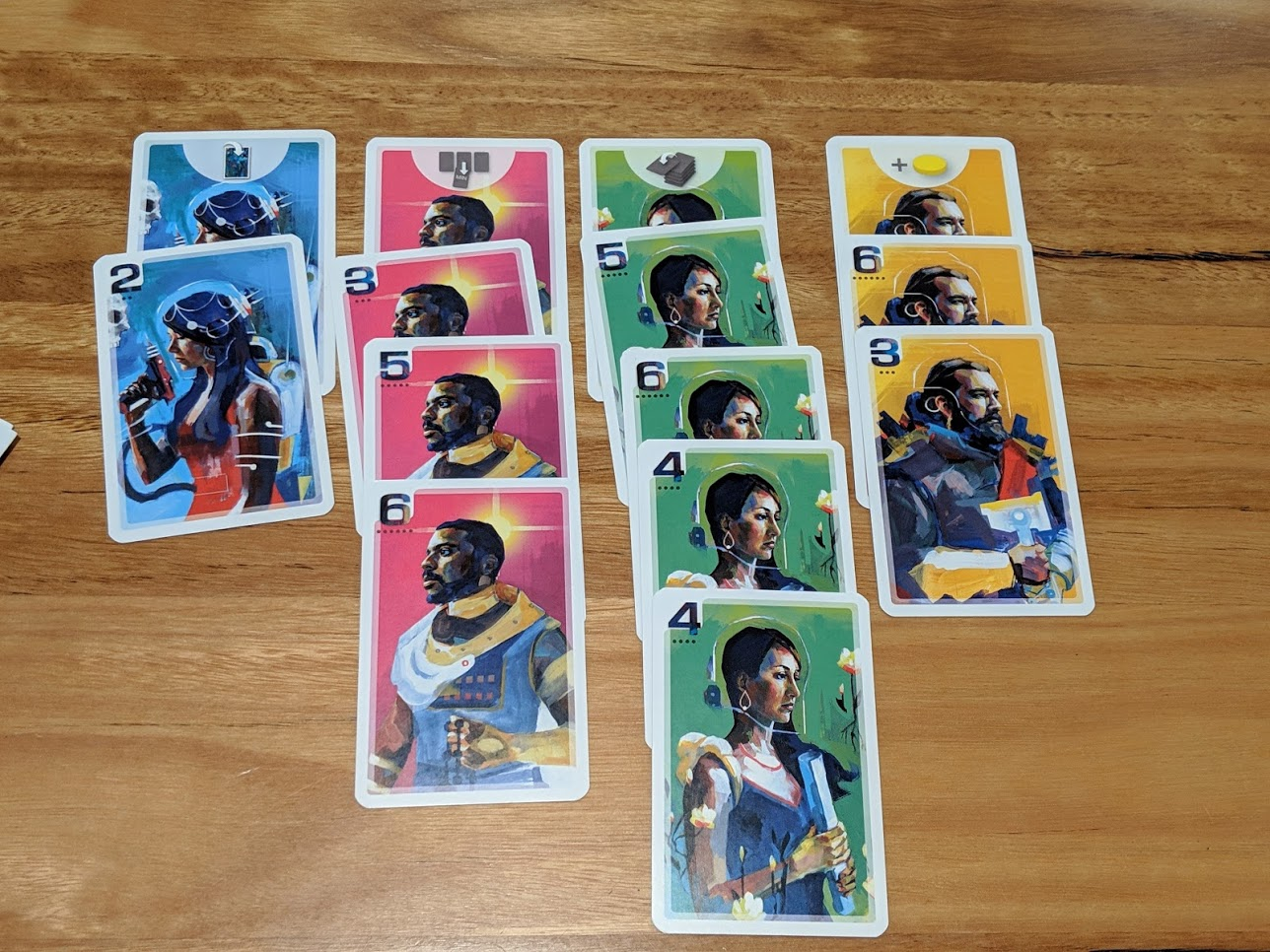 Cards of Capital Lux laid out.
