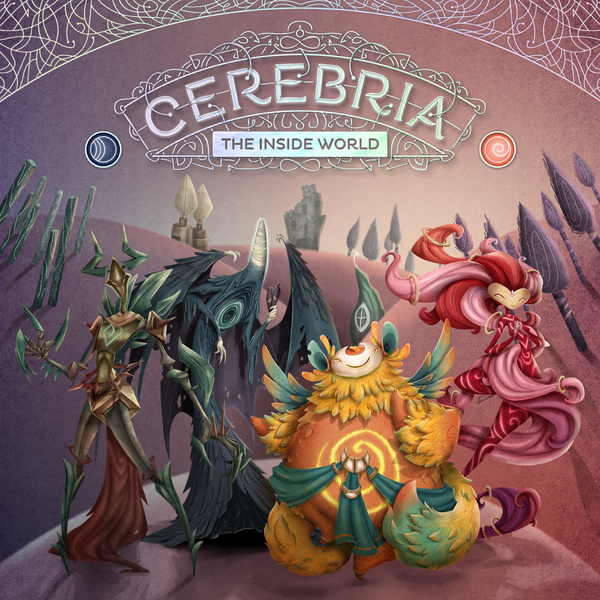 The box art for Cerebria the Inside World. It shows two dark emotions, and two light emotions.