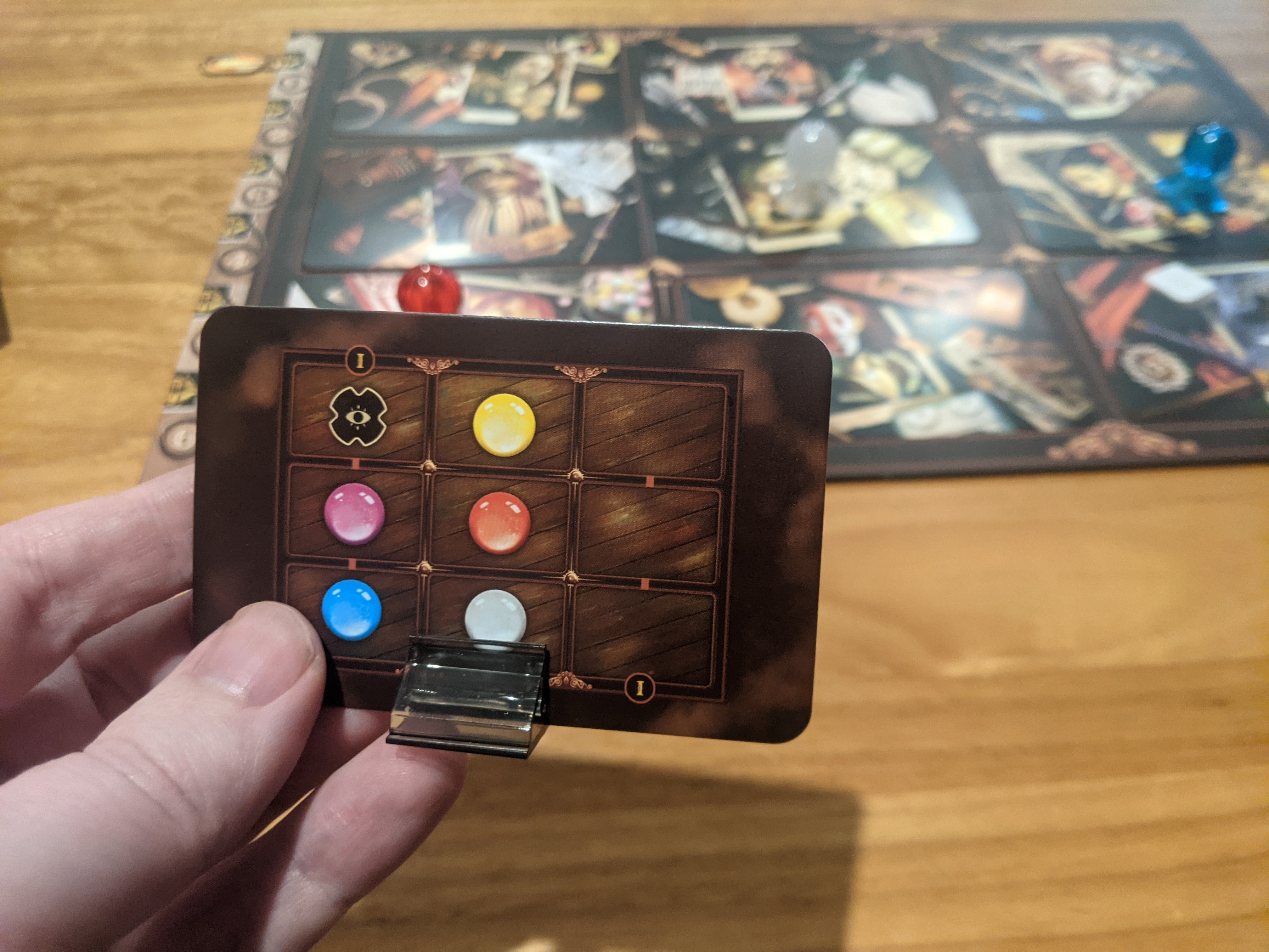 Playing as the ghost in Mysterium Park, all the psychic investigators have missed their guess.